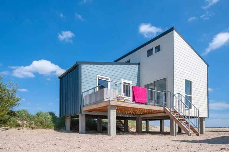 Strandhuisje van Roompot Beach Resort Kamperland Zeeland